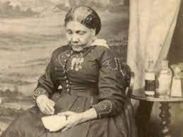 A black and white photo of Mary Seacole