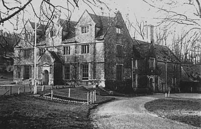 An old photo of the Manor House at Tyneham