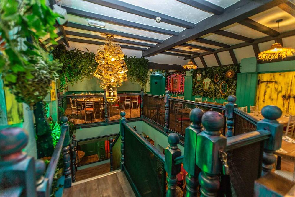 The flamboyant interior of Tinga Mexican restaurant in Salisbury.