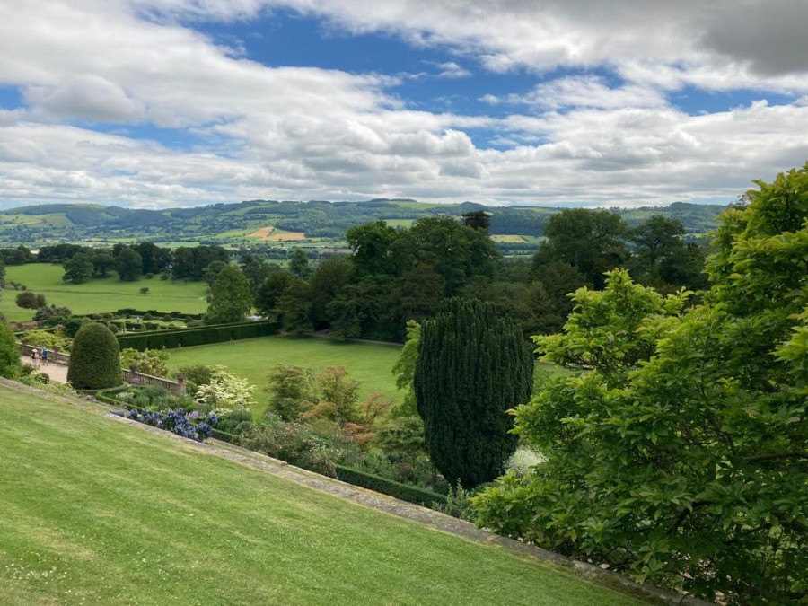 views over hills
