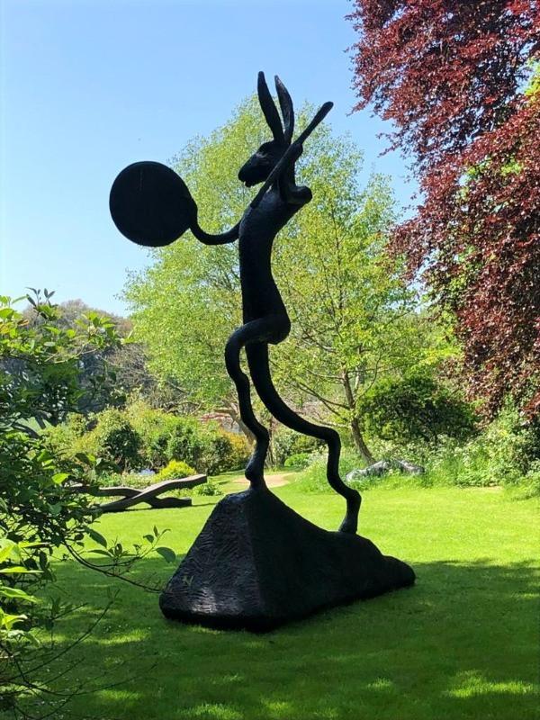 Barry Flanagan's  sculpture Large Left-Handed Drummer