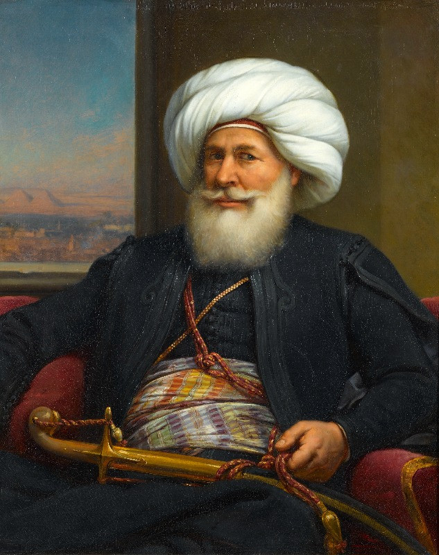 A portrait of Mehmet Ali