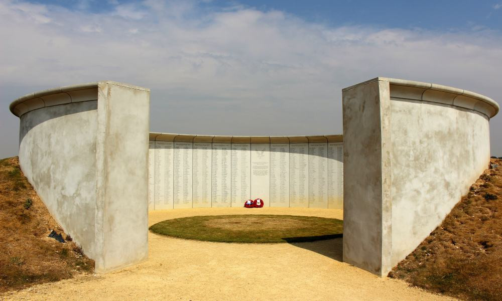 The outside of the memorial to Army Flying