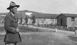Black and white photo of Bulford Camp suring world War 1