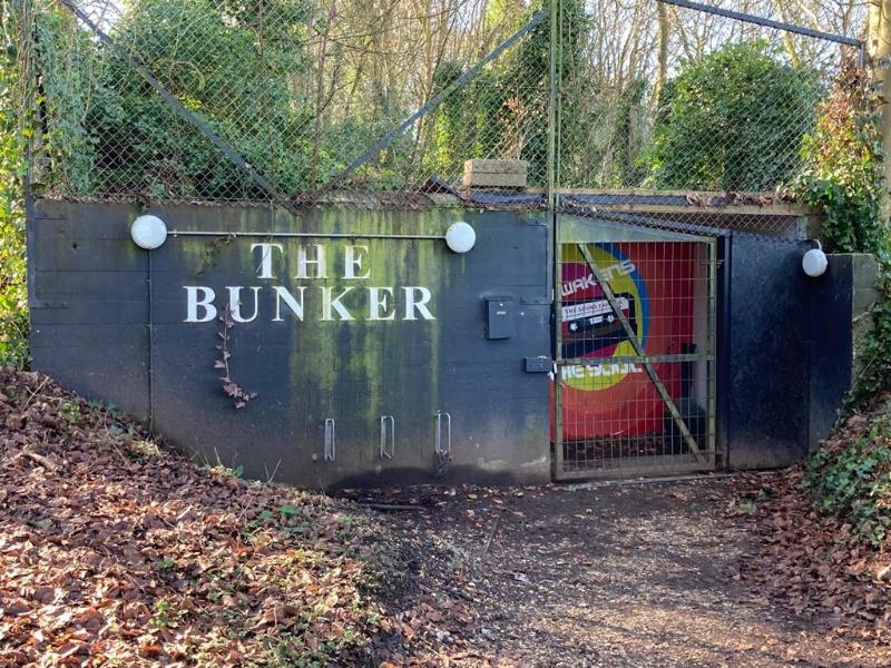 The exterior of the Harnham Bunker