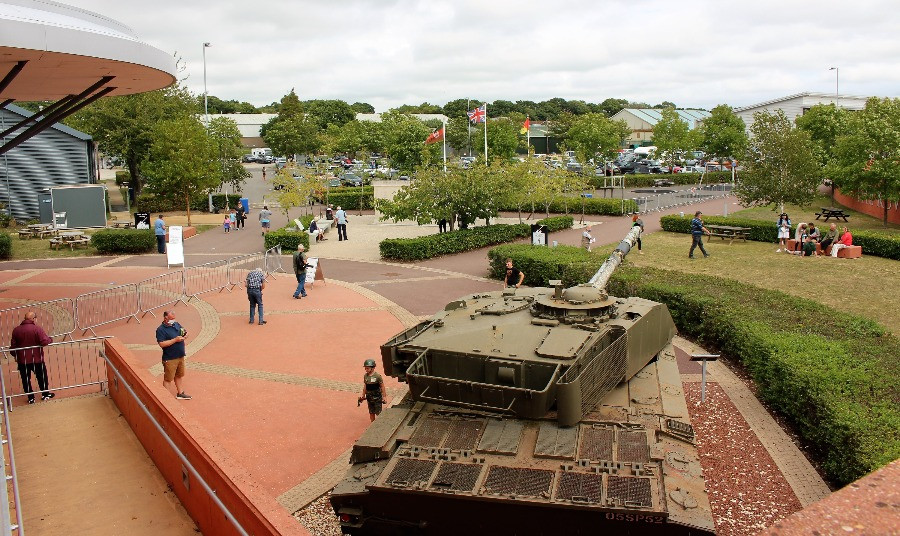 The outside of the Tank museum