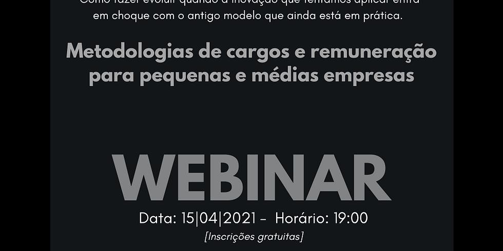 Webinar: Metodologias de cargos e remunerações para pequenas e médias empresas