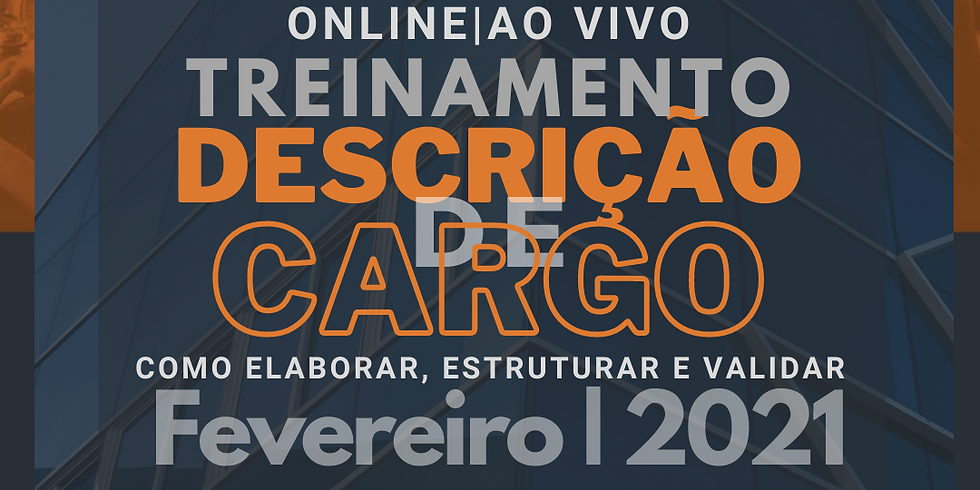 Treinamento Online: Descrição de Cargo, como elaborar, estruturar e validar