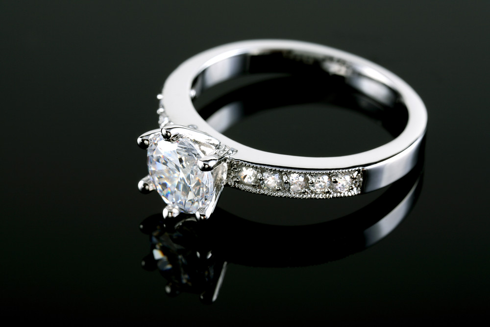 Wedding ring with protective coating image