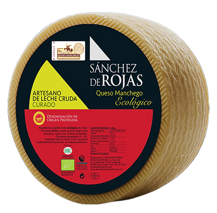 Cured Raw Milk Cheese with ECOLOGICAL Denomination of Origin