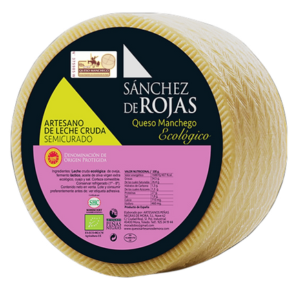 Semi-cured Raw Milk Cheese with ECOLOGICAL Denomination of Origin