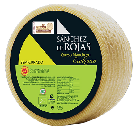 Semi-cured Cheese with ECOLOGICAL Denomination of Origin