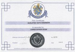Safe Engineer Certificate