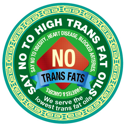 Say NO to High Trans Fat Oils