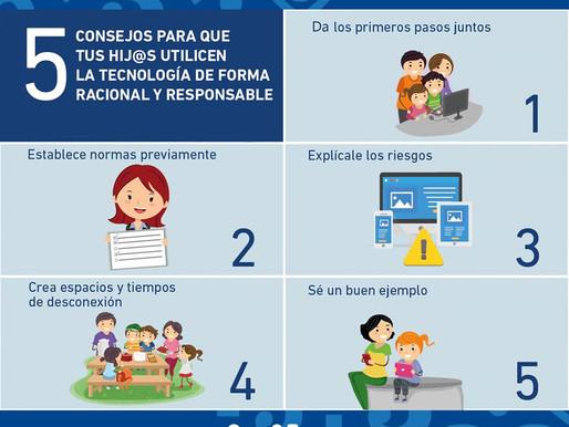 5 Típs para que tus hijos utilicen la tecnología responsablemente.