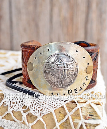 Chief Peace Leather Cuff