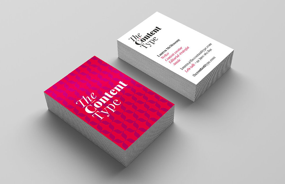 Business cards for The Content Type