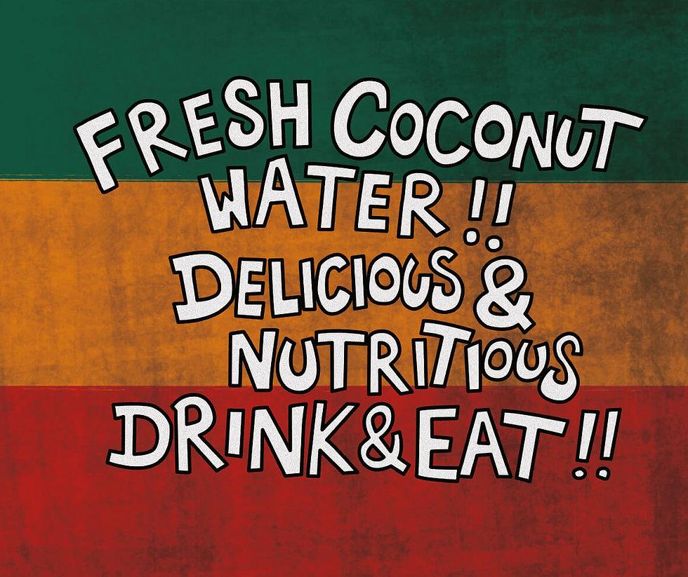 Illustration of coconut seller's sign