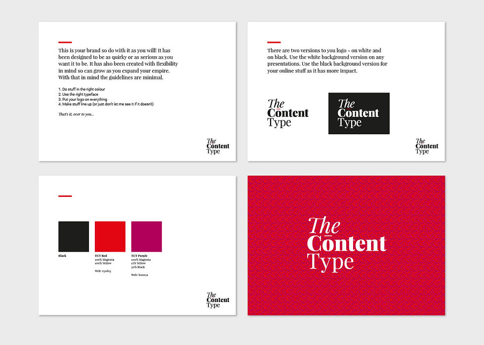 Example pages from brand guidelines