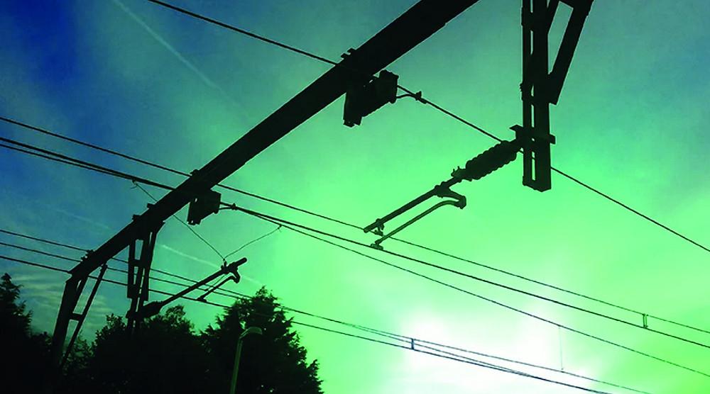 Overhead train wires
