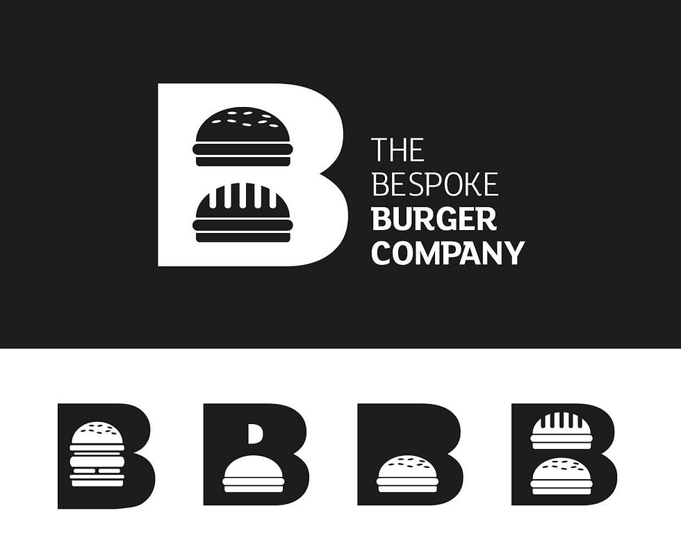 Alternative logo designs for Bespoke Burger Company