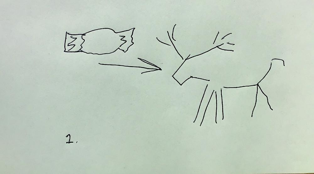 Doodle of moose