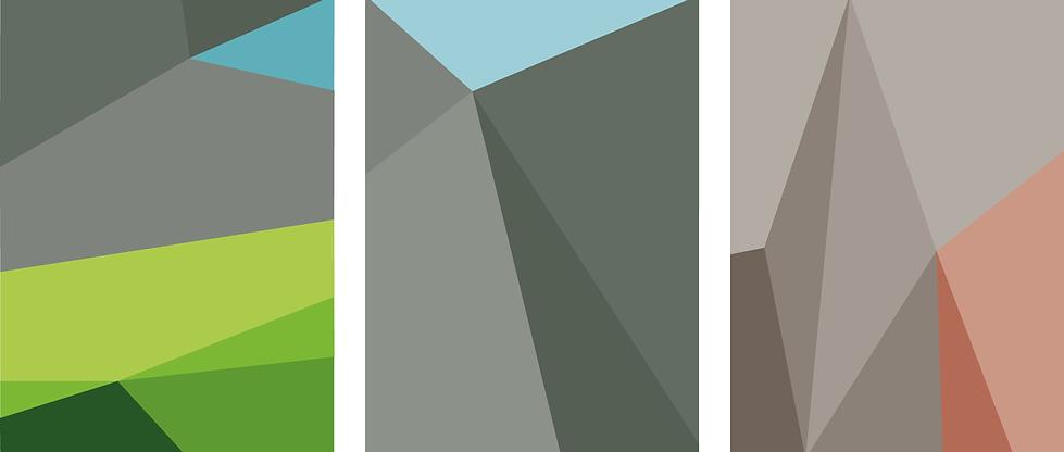Series of geometric patterns