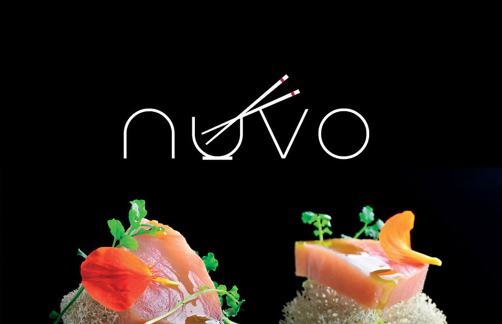Logo design for nuvo cuisine restaurant