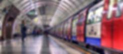 Tube train taken from London underground platform