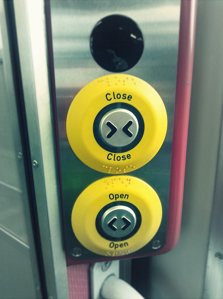 Open close button on train