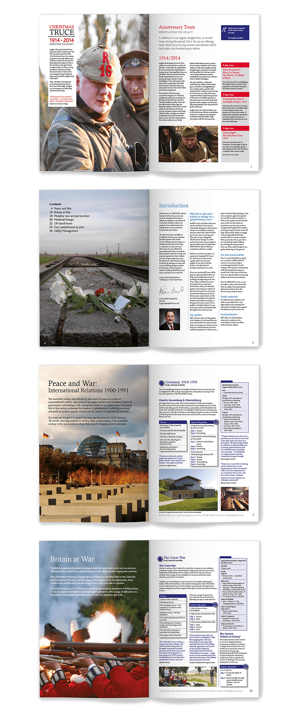 Spreads from brochure