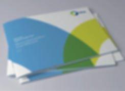 Photograph of copies o brand guidelines