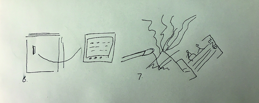 Doodle of fridge