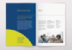 Example spread from corporate brochure