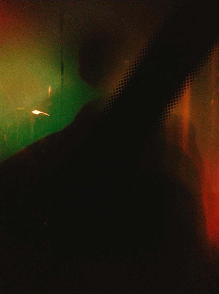 Abstract shot through bus window
