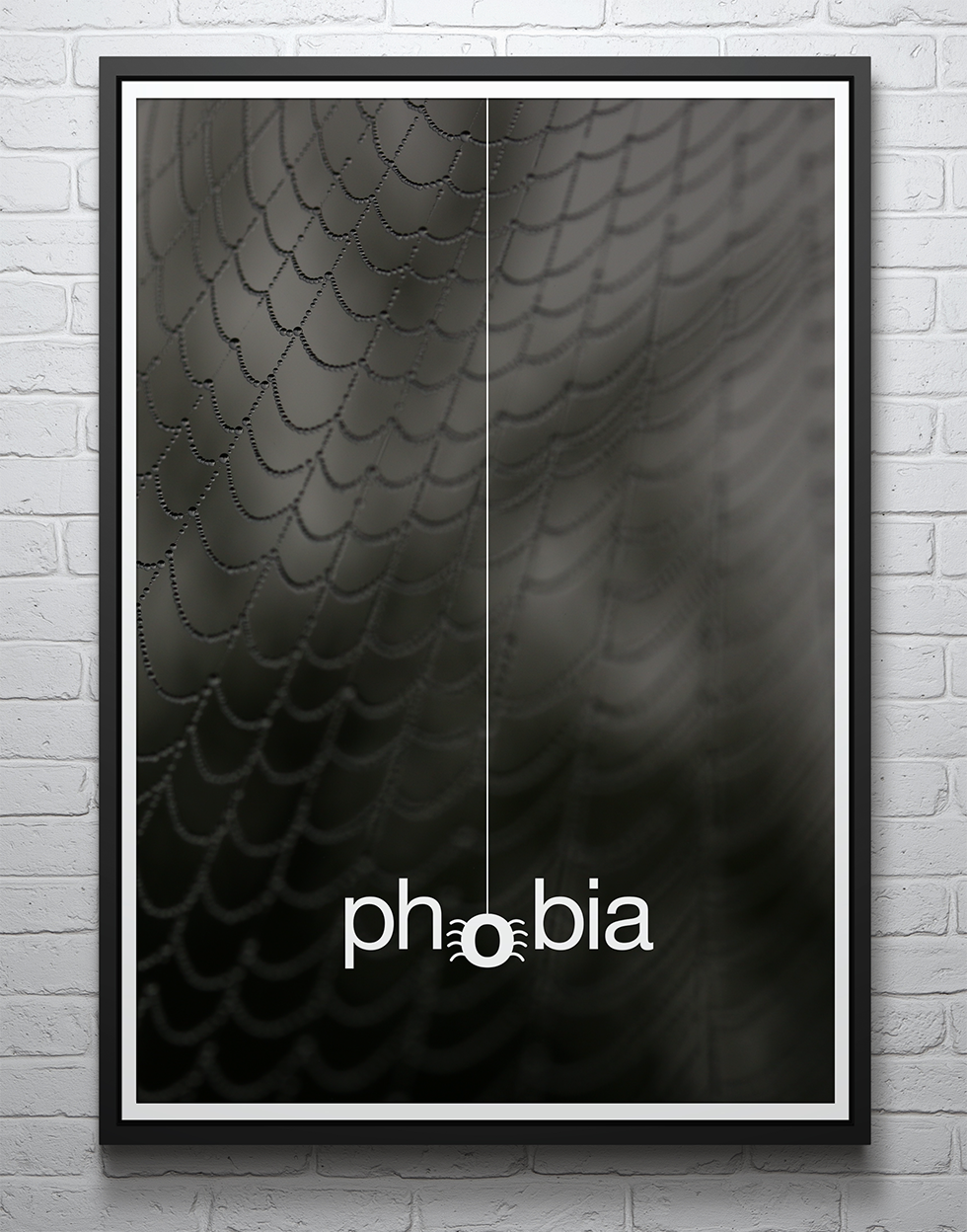 Typographic poster illustrating phobia