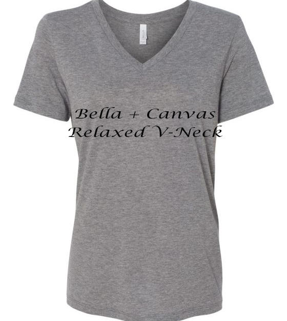Bella + Canvas Relaxed Jersey V Neck Shirt