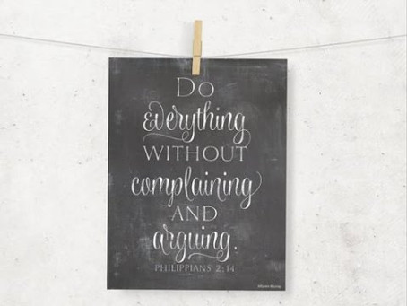 Live Without Complaining (Week 5)