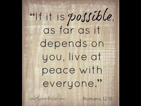 Live At Peace (Week 1)