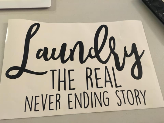Laundry The Real Never Ending Story (Decal Only)
