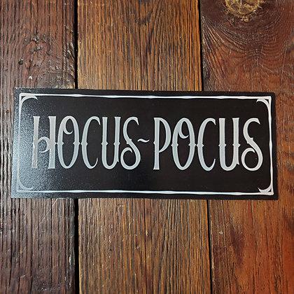 HOCUS POCUS Hand Painted Sign