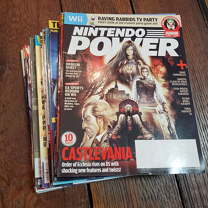 18 copies of NINTENDO POWER Magazines (Various Issues 2006 to 2008)