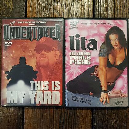 WWF UNDERTAKER + LITA DVDs - 2 pack Deal