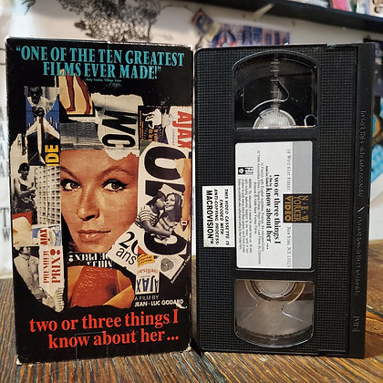 TWO OR THREE THINGS I KNOW ABOIT HER... VHS