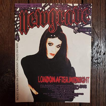 NEWGRAVE #1 - Goth Magazine (Aug/Sept 2000) + Bonus Magazines!