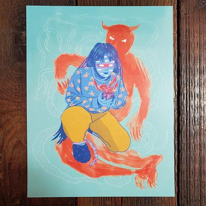 "ART PRINT #2 - 8.5"" x 11"" by CHANEL COLLEAUX @gutstems"
