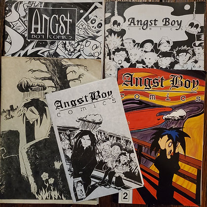ANGST BOY Goth Comics - #2,3,4,5,6 (1997-2003 in reader condition)