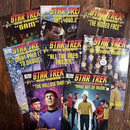 STAR TREK New Visions (8 Pack of Comics)