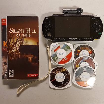 Playstation PSP 1001 - 5 Games + Charger