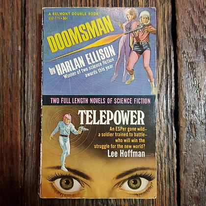 Ellison & Hoffman : DOOMSMAN + TELEPOWER - 1967 Vintage Paperback